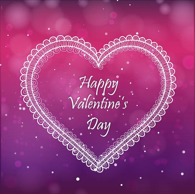 Elegant valentine background with lighting effect