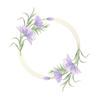 Elegant valentine's day watercolor floral frame