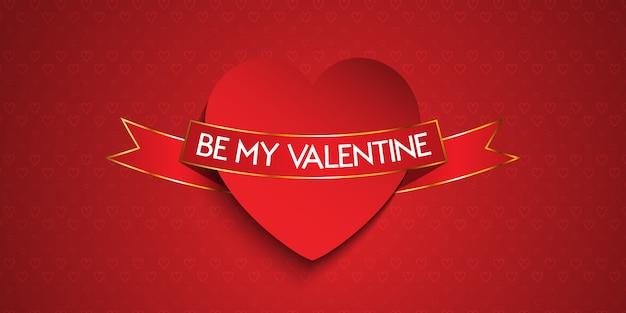 Elegant valentines day banner
