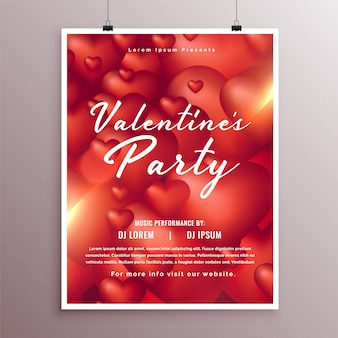 Elegant valentines day part celebration flyer design