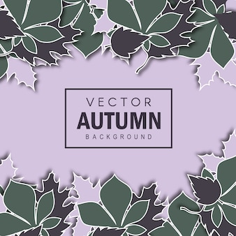 Elegant vector autumn background
