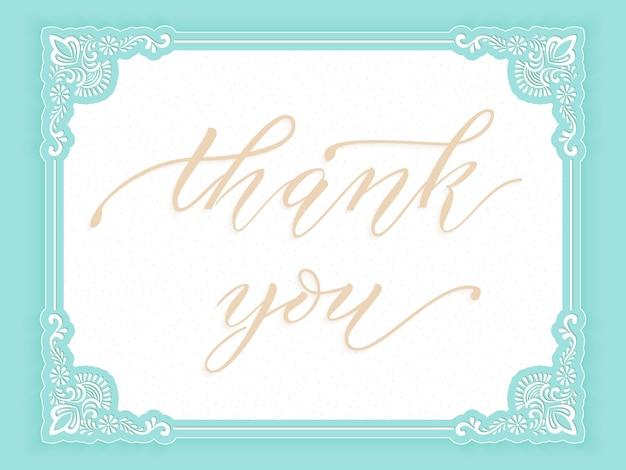 Elegante carta di gratitudine vettoriale.