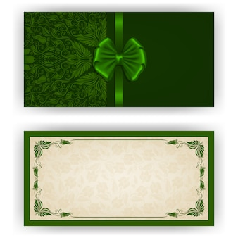 Elegant vector template for luxury invitation card