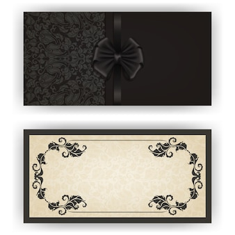 Elegant vector template for luxury invitation card