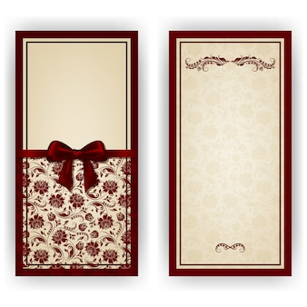 Elegant vector template for luxury invitation
