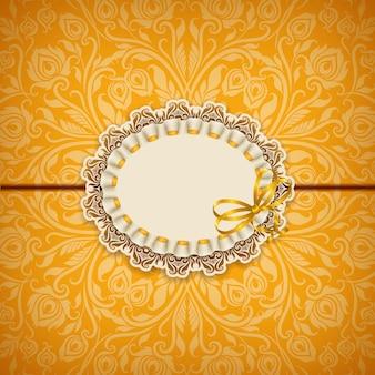 Elegant vector template for luxury invitation