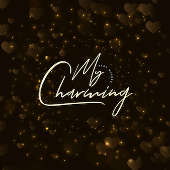 Elegant vector valentine background with lighting effect