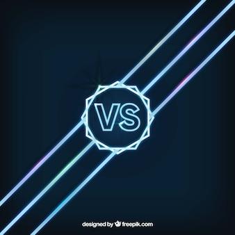 Elegant versus backgroud with neon lights