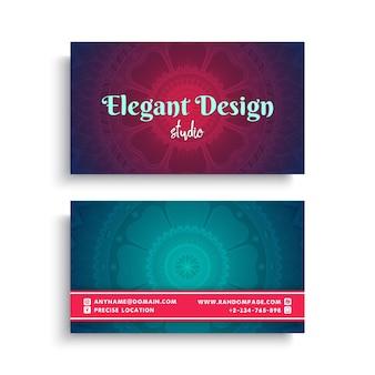 Elegant vintage business card