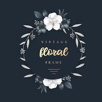 Elegant vintage floral frame