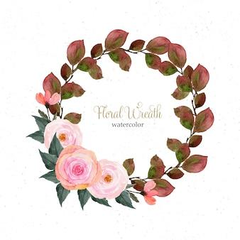 Elegant vintage floral wreath