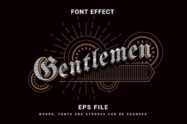 Элегантный винтажный эффект шрифта джентльменов