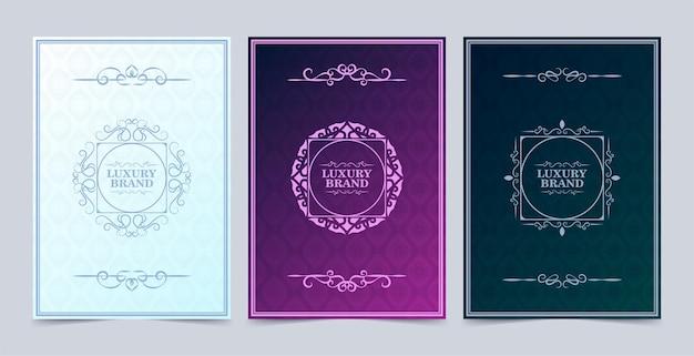モダンなパターンをモチーフにしたエレガントなヴィンテージグリーティングカード