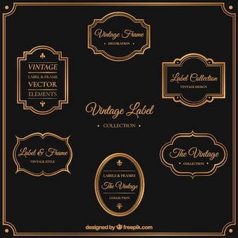 Elegant vintage label collection