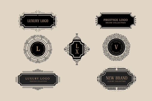 Elegant vintage logo collection