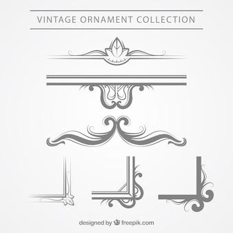 Elegant vintage ornament collection