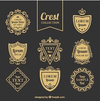 Elegant vintage shields