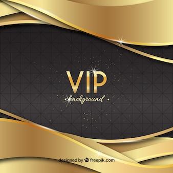 Elegant vip background with golden waves