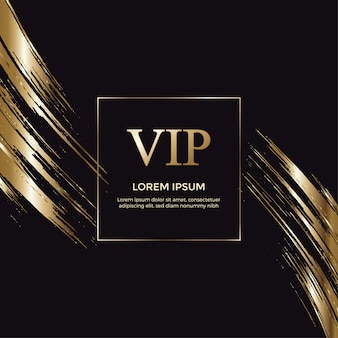 Elegant vip gold invitation card