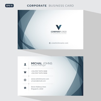 Elegant visit card illustration