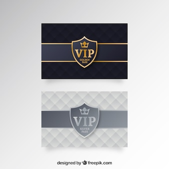 Elegant visiting card with vip style
