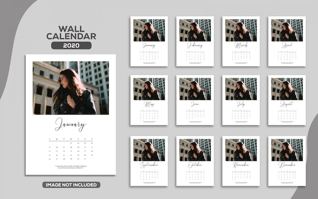 Elegant wall calendar 2020