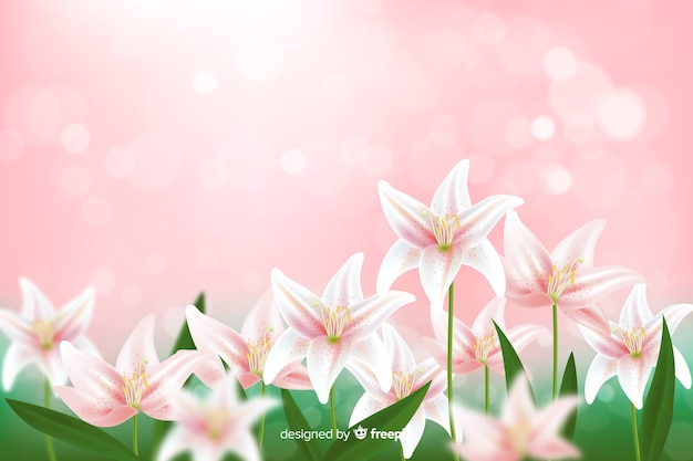 Elegant wallpaper with flowers design