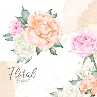우아한 수채화 꽃다발