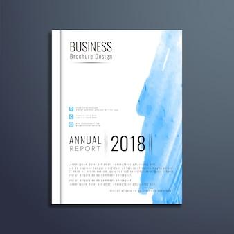 エレガントな水彩ビジネスパンフレット
