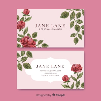 Elegant watercolor business card template