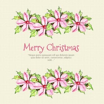 Элегантный акварельный рождественский фон