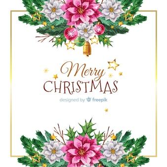 Elegant watercolor christmas background