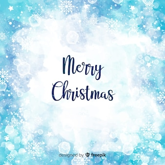 Elegant watercolor christmas background