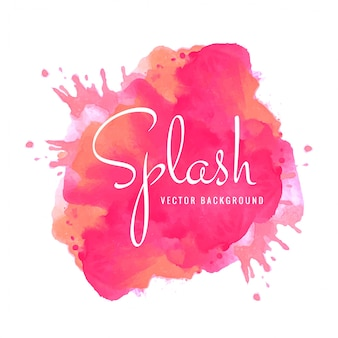 Elegant watercolor colorful splash