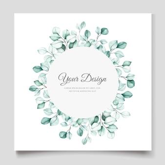 Modello di carta di invito elegante eucalipto acquerello