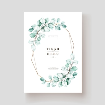 Elegant watercolor eucalyptus invitation card
