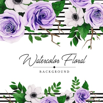 Elegant watercolor floral background