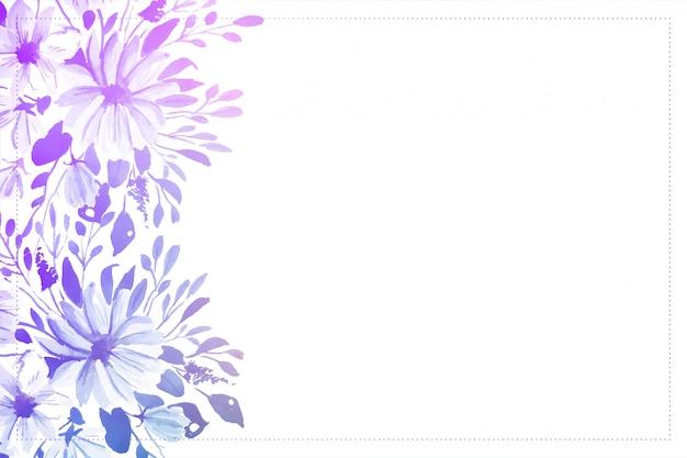 텍스트 공간 우아한 수채화 꽃 부드러운 배경
