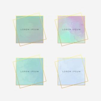 Elegant watercolor frames