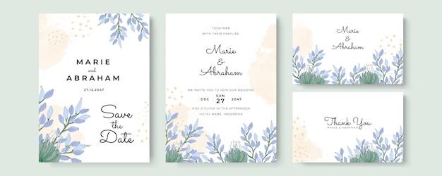 우아한 수채화 결혼식 초대 카드입니다.