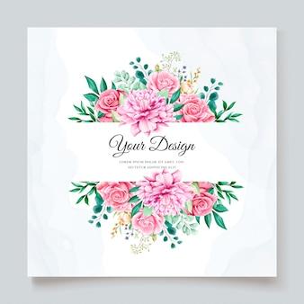 Elegant watercolor wedding invitation template