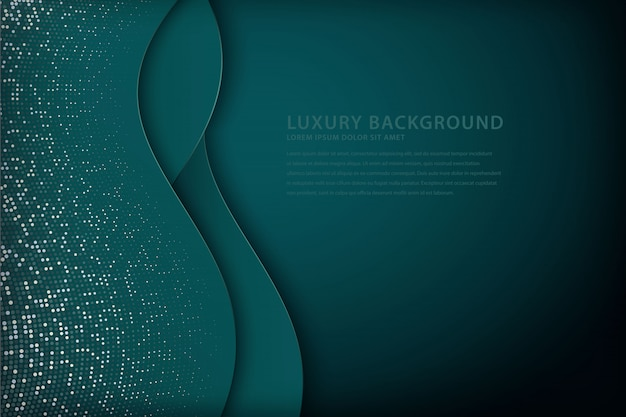 Elegant wave background with overlapping style
