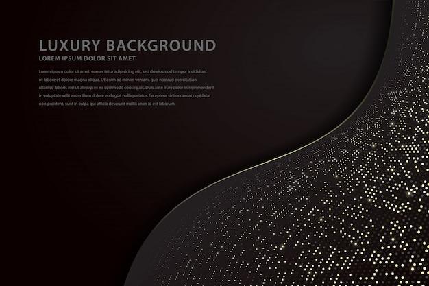 Elegant wave background with sparkling spots