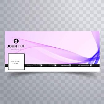Elegant wave facebook template banner design