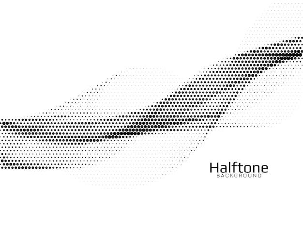 Elegant wave style halftone background vector