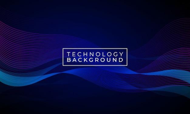 Elegant wave technology background