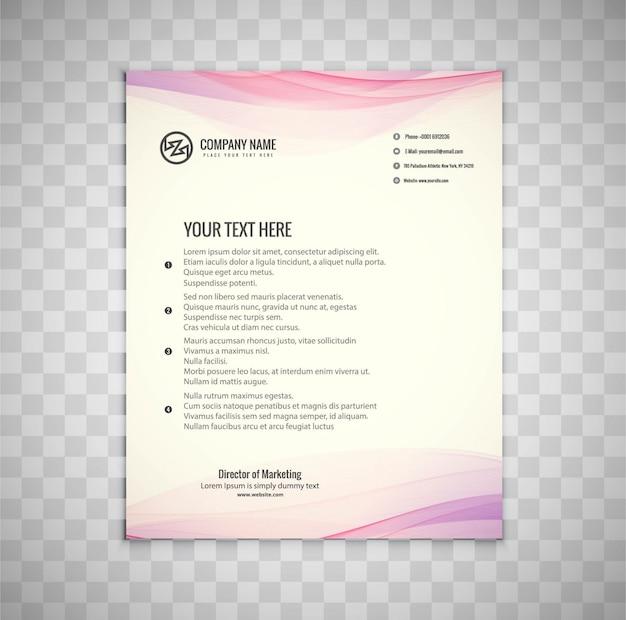 Elegant wavy business flyer template