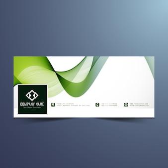 Elegant wavy facebook banner design
