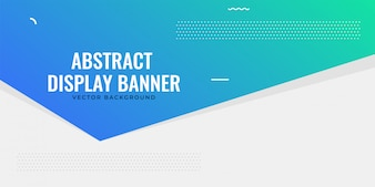 Elegant web blue banner design