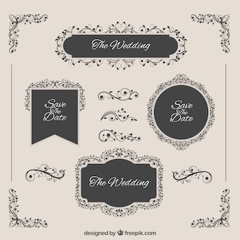 Elegant wedding badges
